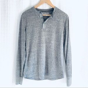 NWOT Gap Men's Thermal Long Sleeve Gray Henley top